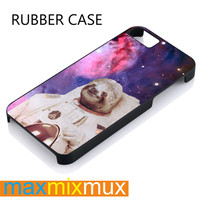 Astronaut Sloths In Space iPhone 4/4S, 5/5S, 5C, 6/6 Plus Series Rubber Case