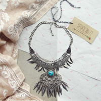 Frosted Feather Necklace