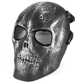2017 New Arrival Full Face Protection Mask 3 Color Skull Airsoft Paintball BB Gun Shot Helmets Outdoor Paintball Motorcycle Mask