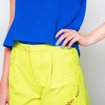 Lime is of The Essence Shorts