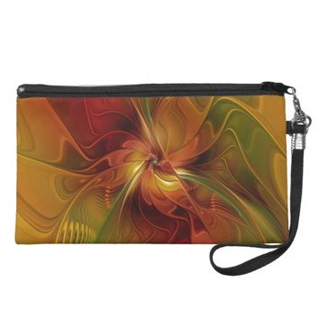 Warmth, Abstract Fractal Art Wristlet