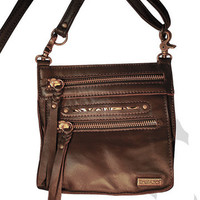Tasca Leather Purse - Coffee with Nickel