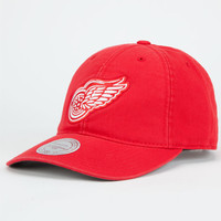 Mitchell & Ness Detroit Red Wings Mens Strapback Hat Red One Size For Men 25698630001