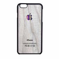 Apple Logo On White Wood Colorful iPhone 6 Case