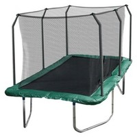 14' Rectangle Trampoline Green