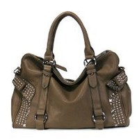 MyLux Handbag 120885 dark brown/Coffee purse