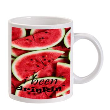 Gift Mugs | I Been Drinking Watermelon Ceramic Coffee Mugs