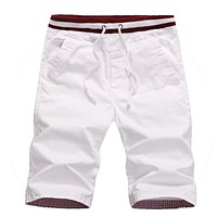 Cotton men shorts homme beach slim fit