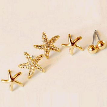 Earrings | Star Shape Stud Earrings Set (3 pairs)