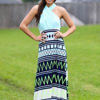 Tribal Endless Ways Wrap Maxi Dress - Mint