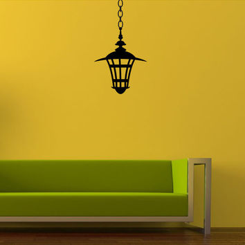 Hanging Lantern Vinyl Wall Decal