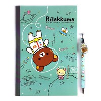 San-x Space Rilakkuma School Supply Stationary Set : A5 Note & Pencil : Mint $5.99