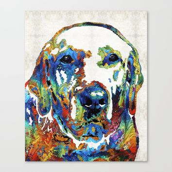 Labrador Retriever Art - Play With Me - By Sharon Cummings Canvas Print by Sharon Cummings