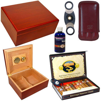 Combo Amigos Humidor Cigar Case and Cutter