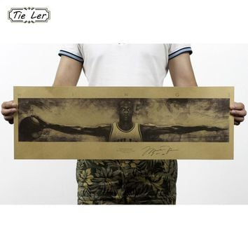 TIE LER Celebrity Retro Kraft Paper Poster Wall Sticker Vintage Poster Wallpaper