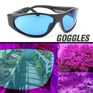 Plant Light Eye Protect Glasses LED Grow Room Glasses Anti-glare Anti-UV Green/Blue Lens Glasses for Tent Greenhouse Hydroponics