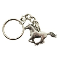 Galloping Horse Keychain ~ Antiqued Pewter ~ Keychain