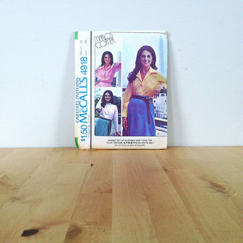 McCall's 4918 Misses' Set of Blouses and Tank Top {1976} Vintage Sewing Pattern