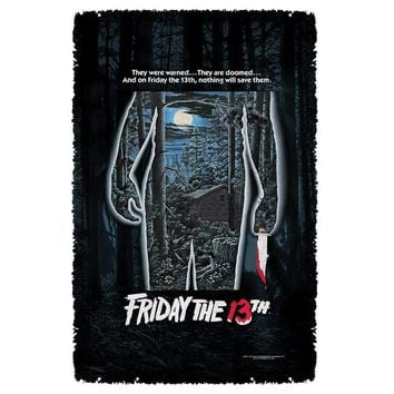 Friday the 13th Poster Woven Throw Blanket