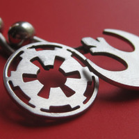 Star Wars Rebel or Imperial Belly Ring by sudlow on Etsy