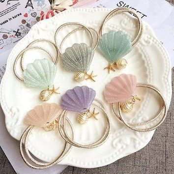 Elastic Mermaid Seashell Hair tie