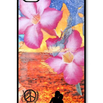 iphone 4 case, INDIAN SUMMER, cell phone cover, fits iphone 4S, Flowers, Gift, swim, Avail. with black or white case color