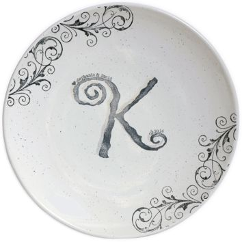 Personalized Scrollwork Wedding ~ Guest Book Platter