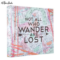 "Not All Who Wander Post Bound Scrapbook Album - 8"" x 8"" 