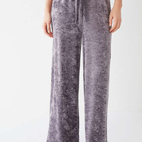 Out From Under Mila Velvet Wide Leg Sweatpant   Urban Outfitters