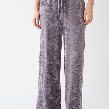 Out From Under Mila Velvet Wide Leg Sweatpant | Urban Outfitters
