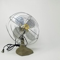 Vintage Manning Bowman Industrial Style Table Fan
