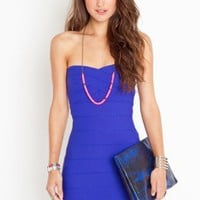 Sweetly Bound Dress - Electric Blue - NASTY GAL