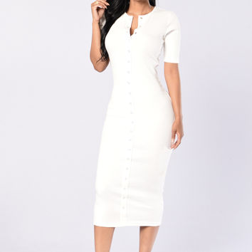 Embezzle Dress - Ivory
