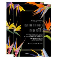 Birds of Paradise, Floral Wedding Invitations