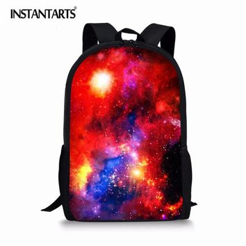 Boys Backpack Bag INSTANTARTS Galaxy Star Pattern School Bags Space s for Girls Mochila Kids Baby Bookbags Teenagers Shoulder Bags AT_61_4