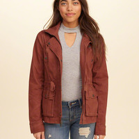 Girls Twill Shirt Jacket | Girls Jackets & Outerwear | HollisterCo.com