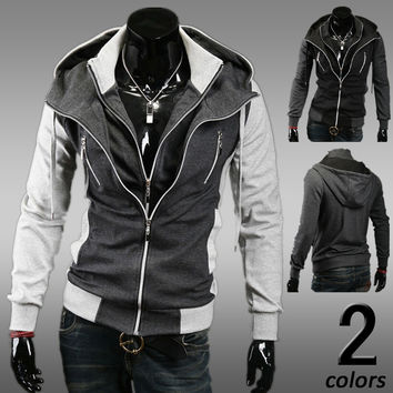 Men Hoodies Korean Slim Tops Jacket [6528875715]