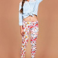 Bouquet Skinny Pants | Floral Bottoms at Pink Ice