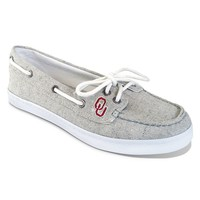 Campus Cruzerz Oklahoma Sooners Kauai Boat Shoes - Women (Grey)