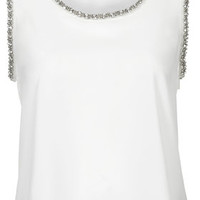 TALL Gem Shell Top - Ivory