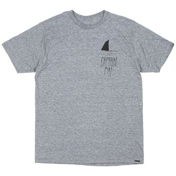 Captain Fin Shark Fin Pocket Mens Tee