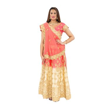 Exquisite Pink And Gold Lehenga