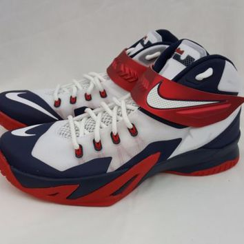NIKE Zoom Lebron James Soldier VIII USA Olympic Basketball Shoes 653641-114 12