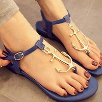 Fashion Anchor Connecting  Thong Sandal