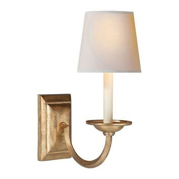Pre-owned Visual Comfort Gilded Iron Wall Sconce