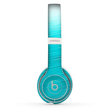 The Light Blue Slanted Streaks Skin Set for the Beats by Dre Solo 2 Wireless Headphones