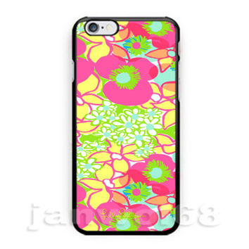 Hot Lilly Pulitzer Pink Floral For iPhone 6 6s 6+ 6s+ 7 7+ Print On Hard Case
