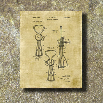 Egg Beater Patent Print 1965 Art Illustration Printable Instant Download Poster UP0125bur