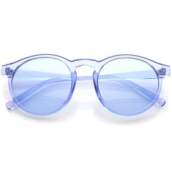 Round Festival Party Translucent Pantone Tinted Lens Sunglasses C374