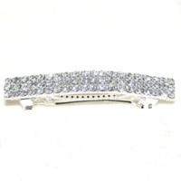 Rows of Rhinestones Barrette